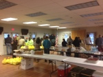 the volunteers inside