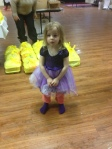 Savannah-Grace, April's middle daughter, got all decked out for the event